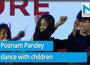 Poonam Pandey spending some quality time with the impaired kids