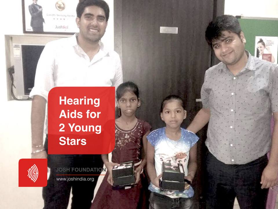 Josh Foundation gifted hearing aids to two more children